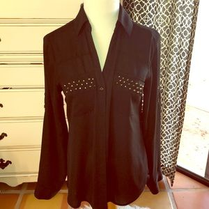 Express The Portofino Black Studded Shirt